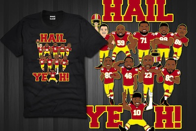 Cool new hail yeah t shirt design get it now for 25 for Hail yeah redskins shirt